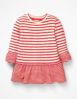 Ivory/Beam Red Stripy Longer Length Top
