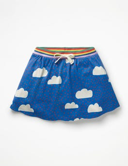 Blue Love Clouds Jersey Skort