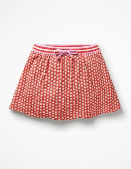 Jam Red Daisy Dot Jersey Skort