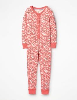 Pink Wild Ponies Printed All-in-one Pyjamas