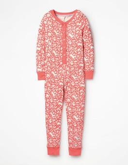Pink Wild Ponies Printed All-in-one Pajamas