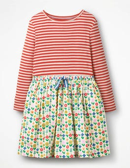 Ivory Flower Patch Hotchpotch Dress