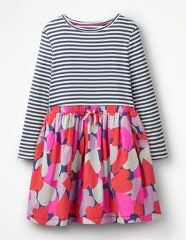 Starboard Blue Camo Hearts Hotchpotch Dress