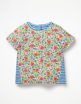 Multi Jolly Floral Hotchpotch Printed T-shirt