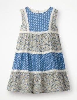 Elizabethan Blue Daisies Floaty Hotchpotch Dress