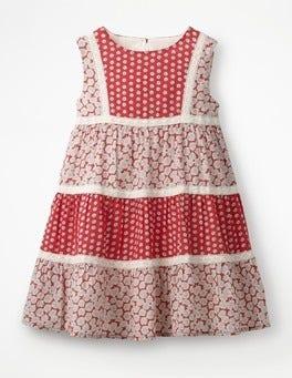 Partyrot, Gänseblümchen Luftiges Kleid mit Mustermix