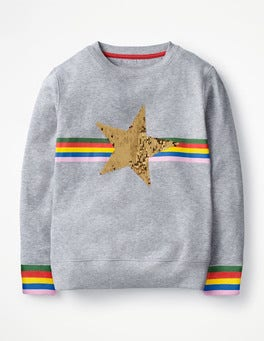 Grey Marl Star Colour-change Sweatshirt