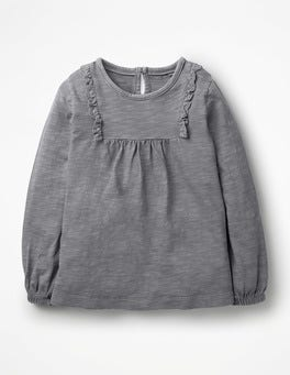 Violet Grey Broderie Longer Length Top
