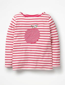 Ivory/Beam Red Apple Fun Detailed Breton