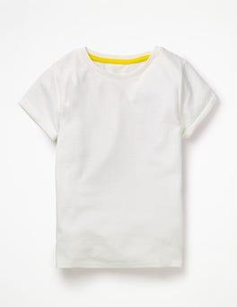 Weiß T-Shirt aus Flammgarn