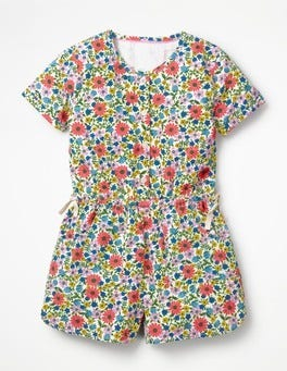 Multi Jolly Floral Printed Woven Playsuit