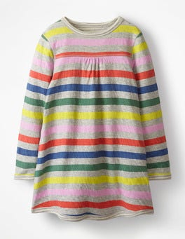 Rainbow Multistripe Reversible Jersey Dress