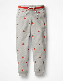 Grey Marl Apples Detailed Joggers