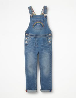Light Vintage Rainbow Fun Overalls