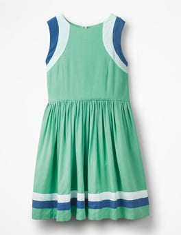 Jungle Green Sporty Woven Dress