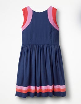College Blue Sporty Woven Dress