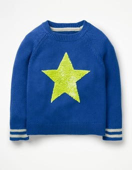 Duke Blue Star Happy Days Sweater