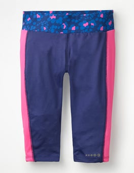 Starboard Blue Active Cropped Leggings