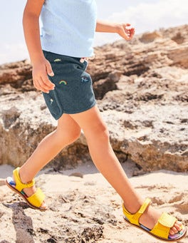 Bestickte Jersey-Shorts