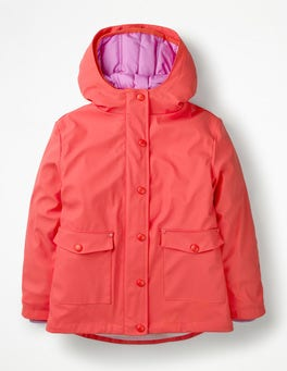 Jam Red/Lilac Pink Waterproof 3-in-1 Raincoat