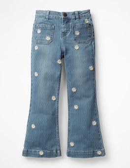 Light Vintage/Daisies Retro Jeans