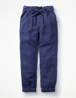 College Blue Tie-waist Pants