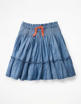 Chambray Blue Twirly Skirt