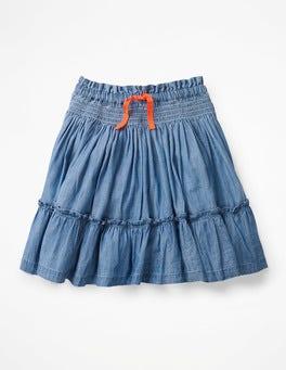 Chambray Blue Twirly Skirt