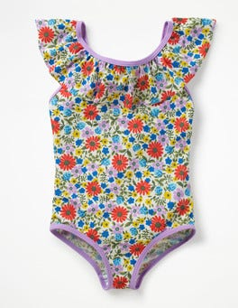Multi Jolly Floral Frilly Swimsuit