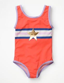 Jam Red Star Appliqué Swimsuit