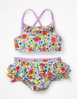 Bunt, Fröhliche Blumen Schönes Bikini-Set