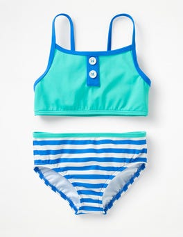 Jungle Green Stripy Bikini Set