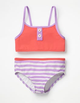 Jam Red Stripy Bikini Set