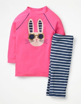 Festival Pink Bunny Sun Protective Surf Set