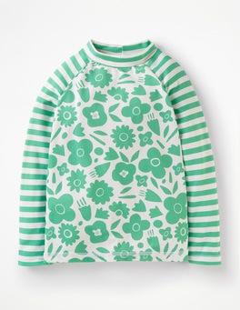 Jungle Green Pop Floral Long-sleeved Rash Vest