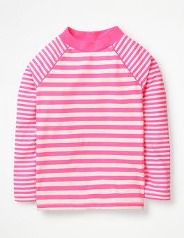 Coral Pink/Ivory Long-sleeved Rash Vest