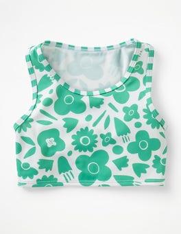 Jungle Green Pop Floral Surf Bikini Top