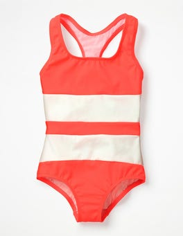 Neon Grapefruit Pink Racer-back Swimsuit