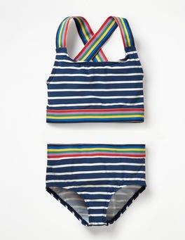 Deep Sea Blue/Ivory Surf Bikini Set
