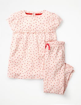 Parisian Pink/Jam Red Hearts Pretty Pyjamas