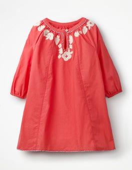 Jam Red Embroidered Kaftan
