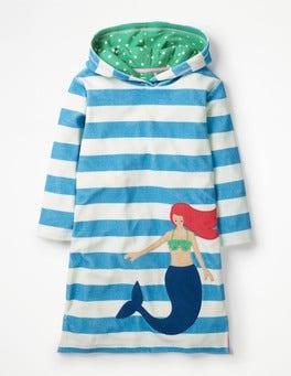 Naturweiß, Meerjungfrau, Gestreift Fröhliches Frottee-Strandkleid