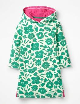 Jungle Green Pop Floral Fun Towelling Beach Dress