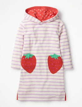 Parasol Pink Strawberries Fun Towelling Beach Dress
