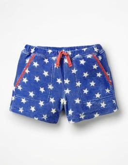 Königsblau, SterneFrottee-Shorts