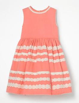 Soft Peach Pink Pretty Lace Detail Dress