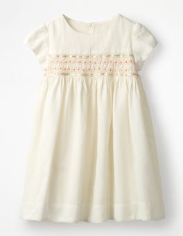 Ivory Pretty Smocked Dress