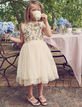 Embroidered Floaty Dress