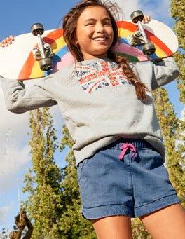 Bequemes Sweatshirt mit Stickerei
