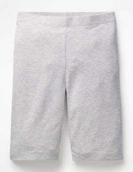 Grey Marl Plain Jersey Knee Shorts